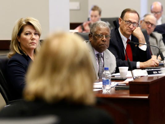 Sally Doty, Willie Simmons, Dean Kirby, Pat Robertson