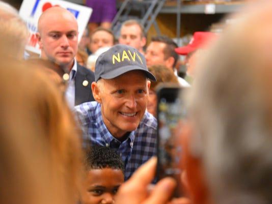 Gov. Scott campaigns in Melbourne