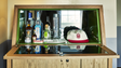 Minibars in the guestrooms of The Hollywood Roosevelt