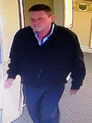 New York resident Howard Barco, whom Corry police said is seen in this surveillance video image taken during a burglary at the Fork and Barrel and Corry Country Club in May 2019, was sentenced in Erie County Court Wednesday to 7½ to 15  years in state prison on guilty pleas to charges in five Erie County crimes.