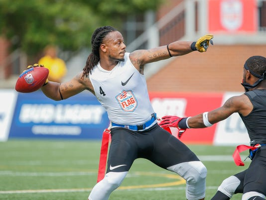 See players from four teams that remain in the American Flag Football League