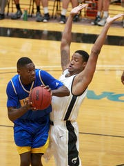 Anderson University's Rakish Taylor (4) is applying for a sixth year of eligibility due to injury this season.