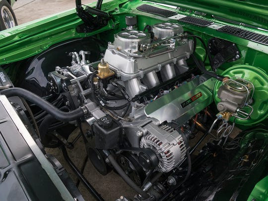 The seven-liter engine in the street Chevelle is a