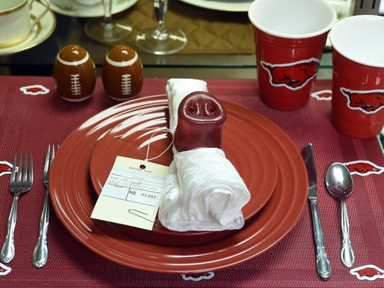 A place setting entry at the Baxter County Fair.