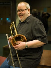 Trombone player Rick Davies taught at SUNY Plattsburgh