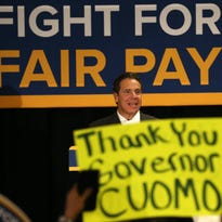 Gov. Andrew Cuomo was in Rochester in November to champion his $15 minimum wage plan. MAX SCHULTE, STAFF PHOTOGRAPHER