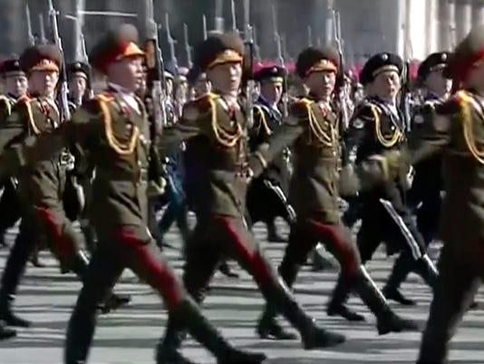 AP NORTH KOREA MILITARY PARADE I PRK