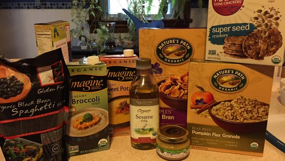 These are some of the packaged organic products I purchased