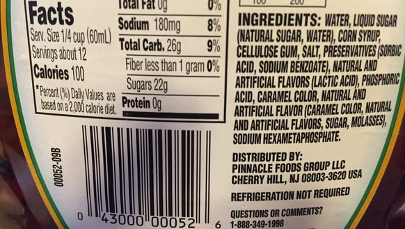 "An example of a ""no-no"" ingredient label on an item"