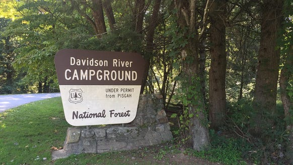 The Davidson River Campground in Pisgah National Forest