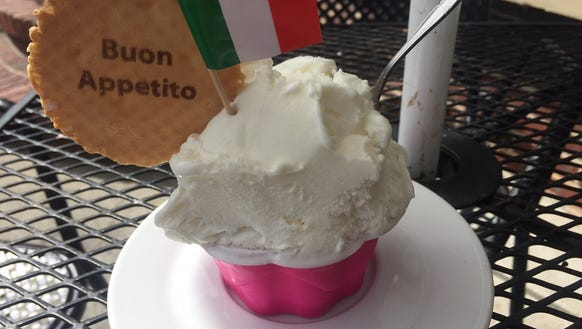 Parmesan Gelato-Sorbetto is a sweet and savory option