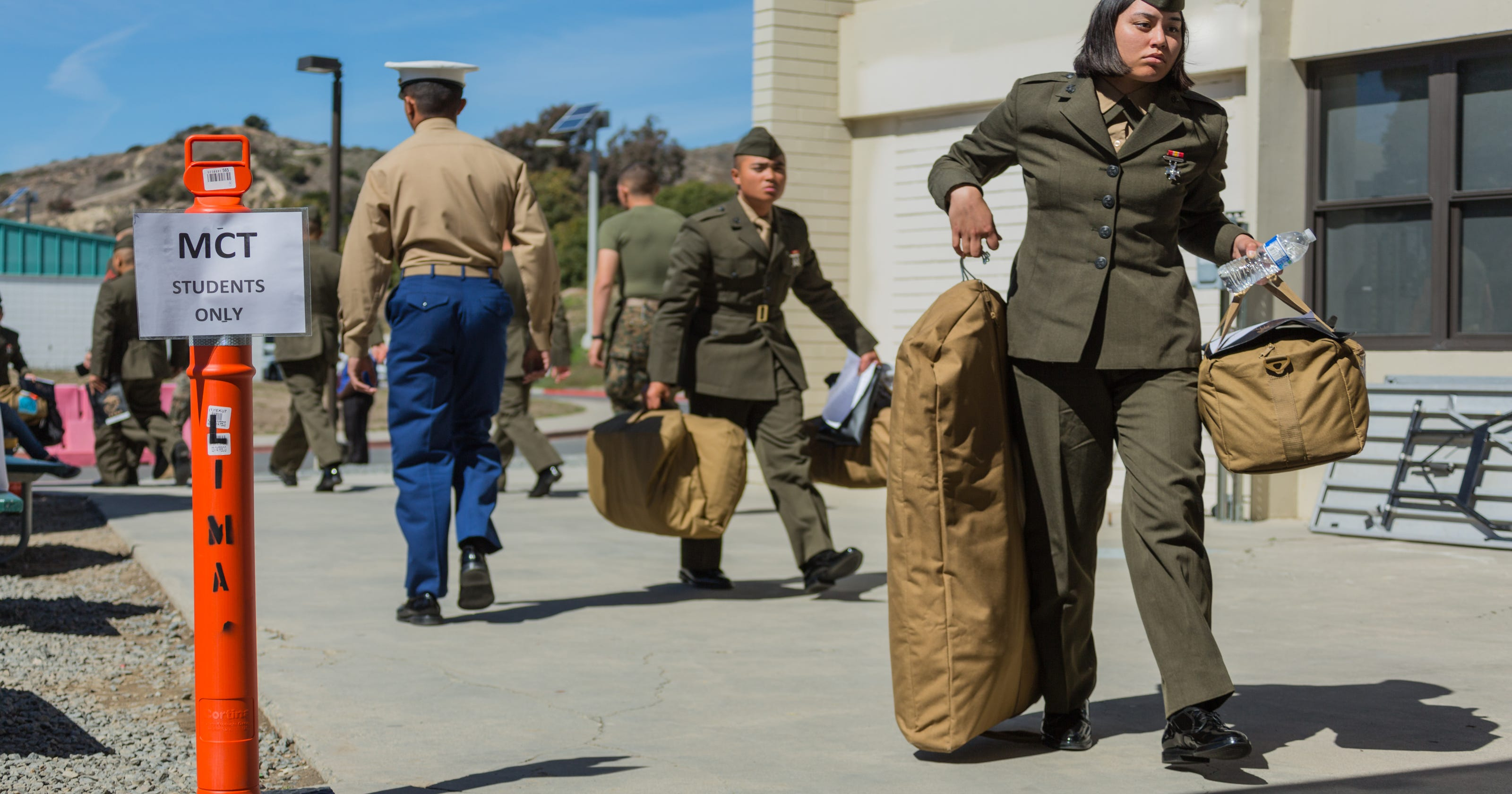 First female students land at Camp Pendleton for Marine