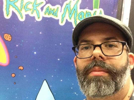 "Kyle Starks, writer for the ""Rick and Morty"" comic book series, takes a selfie at the 2016 San Diego Comic-Con. Starks will be signing his comic books at Von's Shops on Wednesday, Aug. 30, 2017."