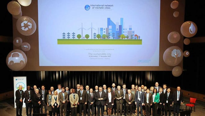 City officials from Anderson and Greenville joined participants from 40 other cities in 23 countries at the International Network of Michelin Cities conference in Clermont-Ferrand, France.