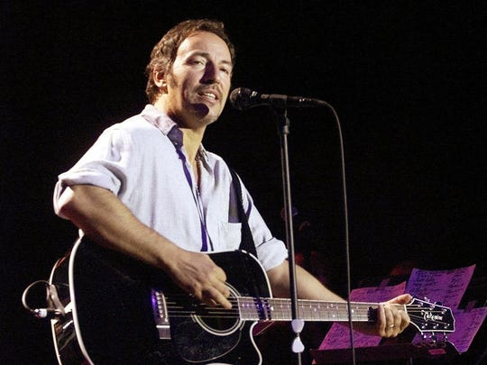 Bruce Springsteen performs at Convention Hall in Asbury Park in 2000.