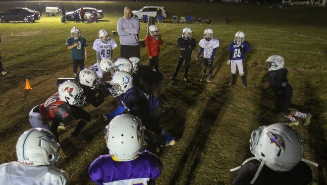 Players take part in youth football practices at the MOT Sports Complex in Middletown. The football club was to host two regional tournaments last weekend and the coming weekend, but unruly fans forced the cancellation of the National Youth Football Championships on Dec. 16-17.