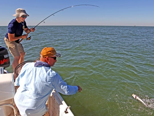 Texas A&M University student Jacob Thompson had never before caught a speckled trout.