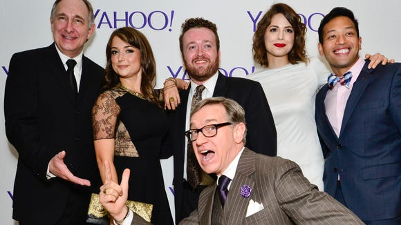 "The cast of Yahoo's ""Other Space,"" which released its eight-episode first season last week."