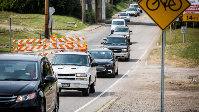 Traffic moves along E. Jackson Street near Bunch Boulevard Thursday afternoon.