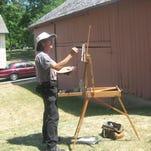Wet paintings of local scenes on sale Saturday