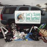 Trash collected at a recent Trash Bash hosted by the Navarre Beach Sea Turtle Conservation Center. Another cleanup is scheduled for 8-10 a.m. Saturday starting at the Navarre Beach Fishing Pier.