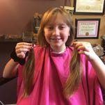 Jenni Creamer of Vineland also donated her long hair to Locks of Love in 2013.