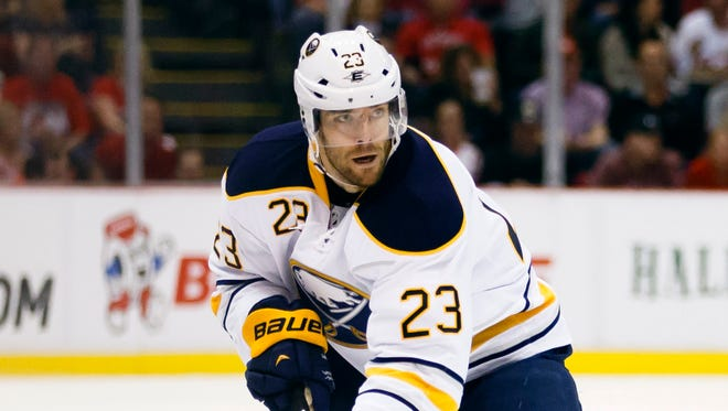 Ville Leino didn't score a goal in 58 games with the Sabres last season.