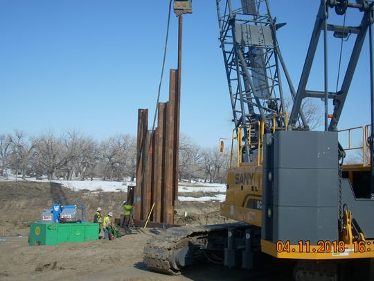 Driving pylons for the Zurich Bridge Project on U.S.