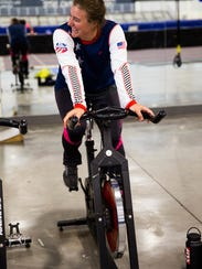 Stacey Cook shown training with the U.S. Women's Alpine