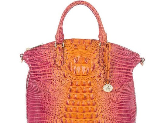"""The Large Duxbury Satchel in the """"Passion fruit Melbourne'' shade has been offered exclusively to customers shopping directly with bag mager Brahmin at its website or branded shops."""