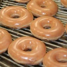 Krispy Kreme Original Glazed doughnuts.
