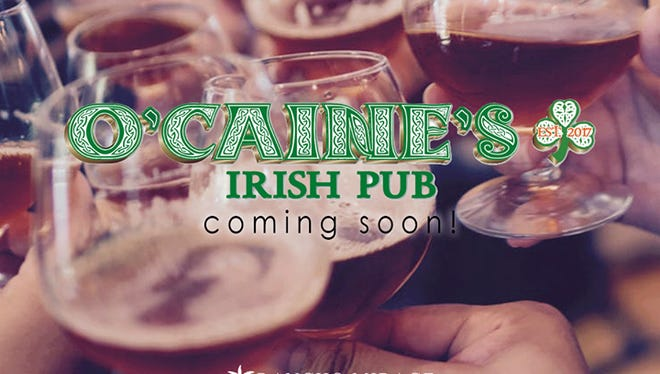 The Rancho Mirage Marketplace announced Monday O'Caine's Irish Pub will be joining the center.