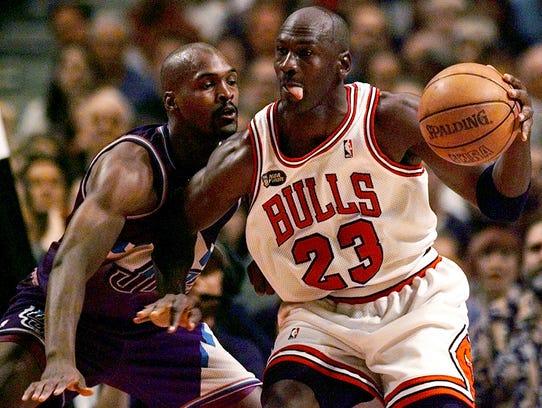 DATE TAKEN: 6/12/98--- Chicago's Michael Jordan (23),