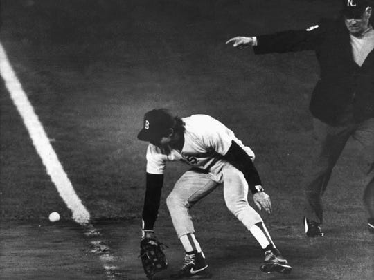 In one of the most infamous plays in baseball history, Bill Buckner misplayed a ground ball during Game 6 of the 1986 World Series, won by the Mets.