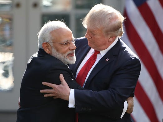 President Trump and Indian Prime Minister Narendra