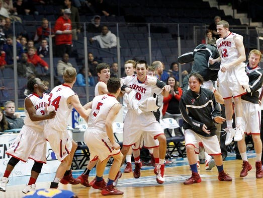 The Fairport Red Raiders defeated the Irondequoit Eagles 64-57 Wednesday.