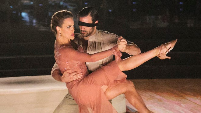"""Peta Murgatroyd and Nyle DiMarco perform a tango on """"Dancing with the Stars"""" on Monday, May 16, 2016."""