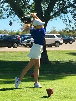 Washburn Rural senior Madelyn Luttjohann won her second straight Class 6A regional golf title Monday, shooting an 84 and winning in a playoff.