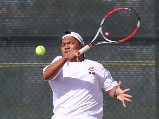 Michael Cabacungan of Palm Springs High School plays