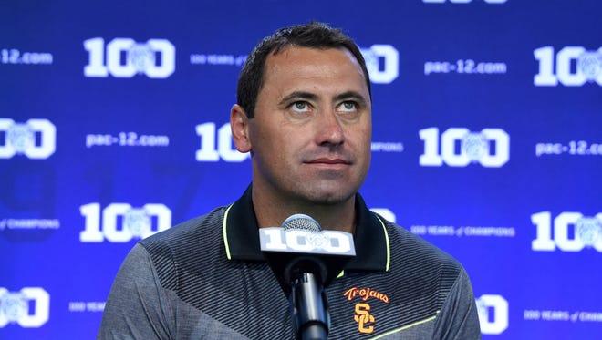 Southern California Trojans coach Steve Sarkisian.