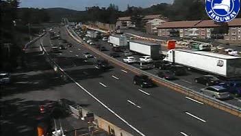 Traffic was moving well at Exit 10 in South Nyack.