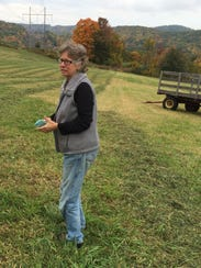 Kim Nace, director of Rich Earth Institute, stands