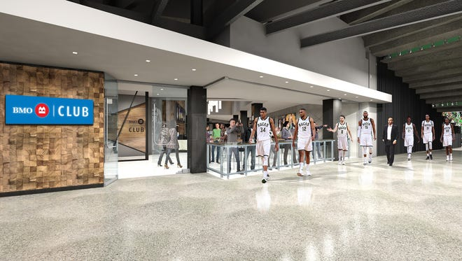 Rendering of the BMO Harris Club that will be part of the new Milwaukee Bucks arena.