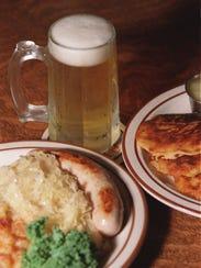 food at the Dakota Inn: left, combo plate features
