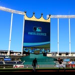A general view during the 2014 World Series Media Day at Kauffman Stadium on October 20, 2014 in Kansas City, Missouri.