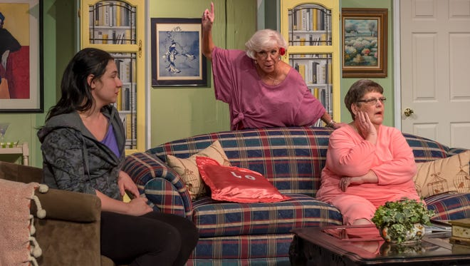 One of the hilarious scenes from the Visalia Players presentation of Nana's Naughty Knickers at Ice House Theatre.