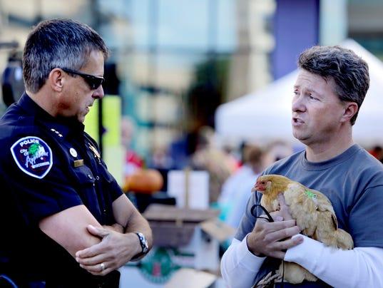 chicken gun protest