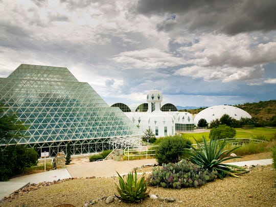 Exterior shot of Biosphere 2.