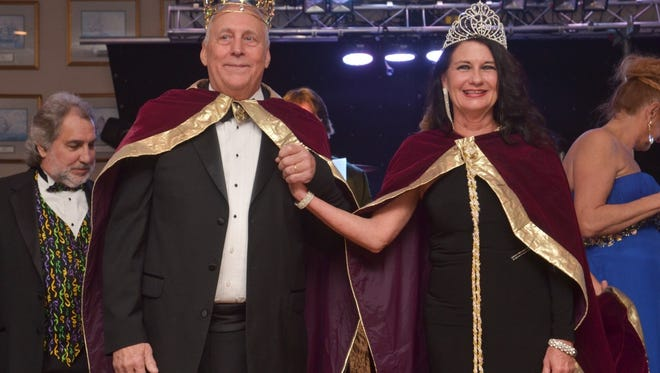 Krewe of Seville royalty is crowned at the krewe's 2015 Masquerade Ball at the Pensacola Yacht Club. The 2016 event is set for Saturday, and is open to the public.