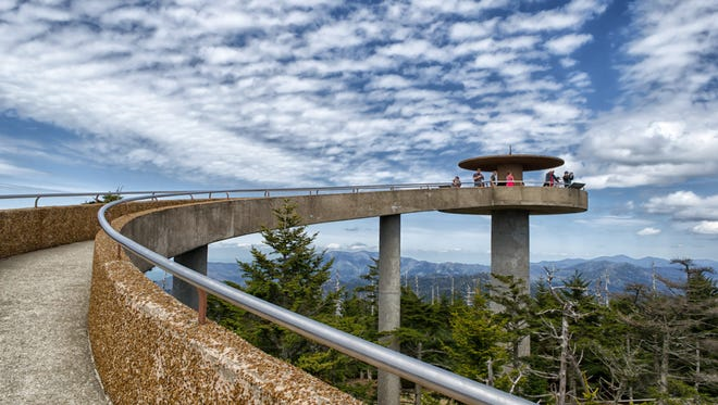 Clingmans Dome Observation Tower, which straddles the Tennessee-North Carolina border in Great Smoky Mountains National Park, will be closed for repairs June 4 to 15, 2018.